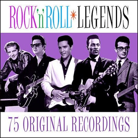 Обложка Rock n Roll Legends - 75 Original Recordings (2019) Mp3
