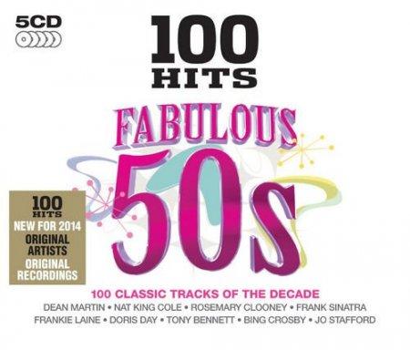 Обложка 100 Hits: Fabulous 50s (5CD Box Set) (2014) FLAC