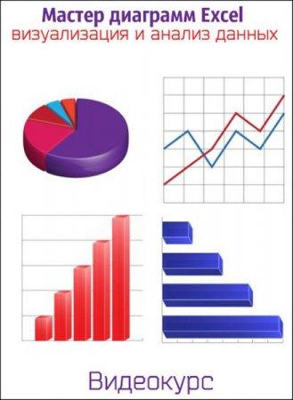 Обложка Мастер диаграмм Excel - визуализация и анализ данных (Видеокурс)