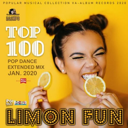 Обложка Limon Fun: Top 100 Pop Dance Mix (2020) Mp3