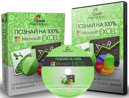 Обложка Познай на 100% Microsoft Excel + Бонусы (Видеокурс)