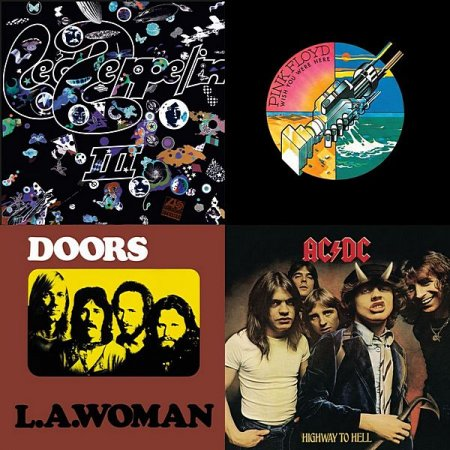 Обложка 70's Rock: The Doors, Led Zeppelin, Pink Floyd (2020) Mp3