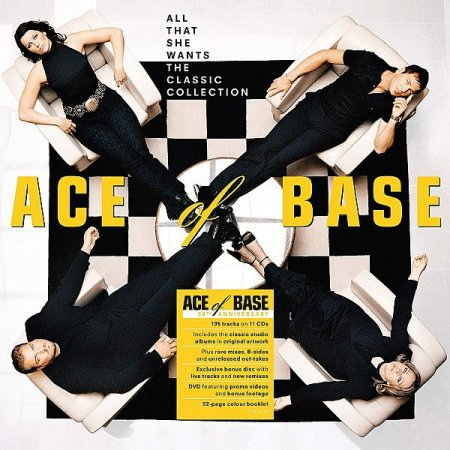 Обложка Ace Of Base - All That She Wants: The Classic Collection (11CD, Deluxe Edition, 30th Anniversary) (2020) Mp3