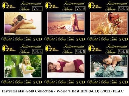Обложка Instrumental Gold Collection - World's Best Hits (6CD) (2011) FLAC